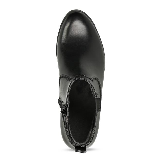 Dámská kožená Chelsea obuv černá bata, černá, 594-6704 - 17
