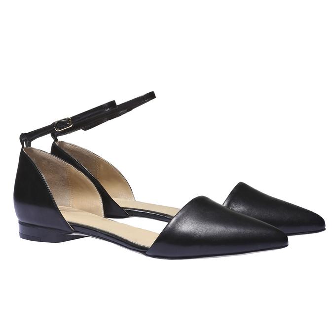 Kožená obuv s průstřihy bata, 2018-524-6247 - 26