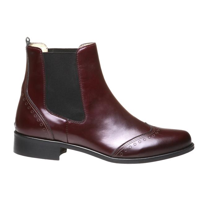 Trendy kožená Chelsea obuv bata, červená, 2019-594-5275 - 26
