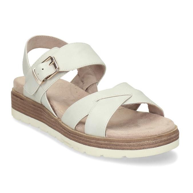 Dámské páskové sandály na platformě bata, bílá, 561-1605 - 13