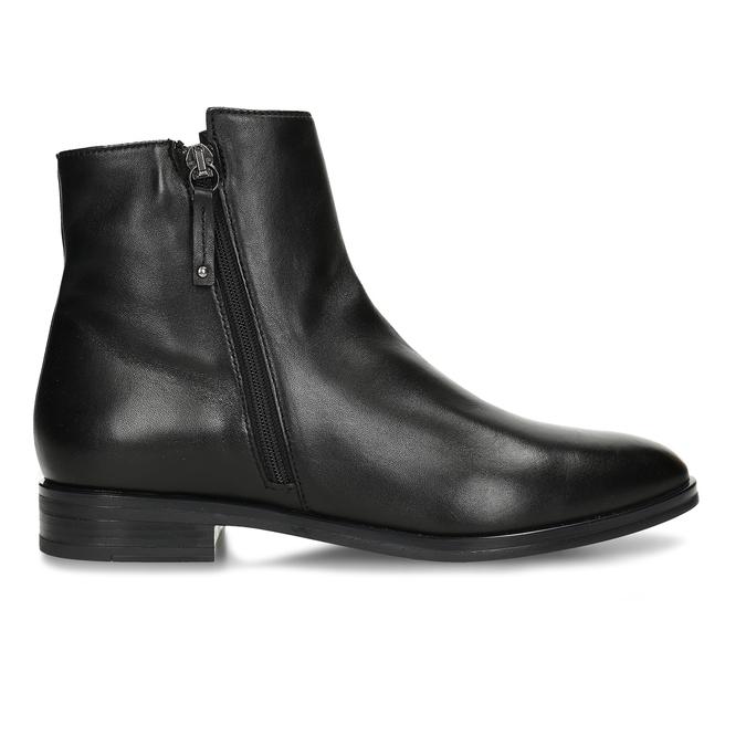 Dámská obuv z černé kůže ke kotníkům bata, černá, 594-6697 - 19