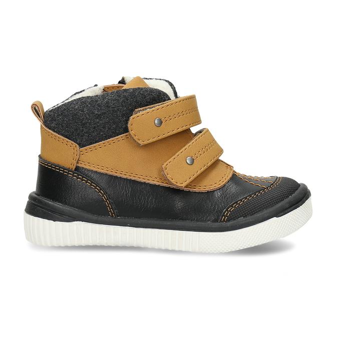 Dětská kotníková obuv se suchým zipem bubblegummers, hnědá, 111-4723 - 19