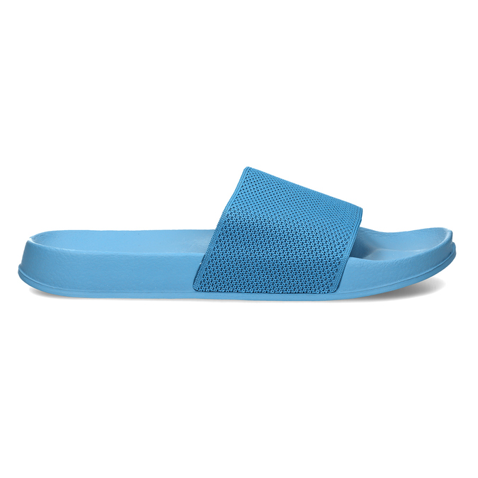 Modré pánské pantofle na léto pata-pata, modrá, 879-9610 - 19