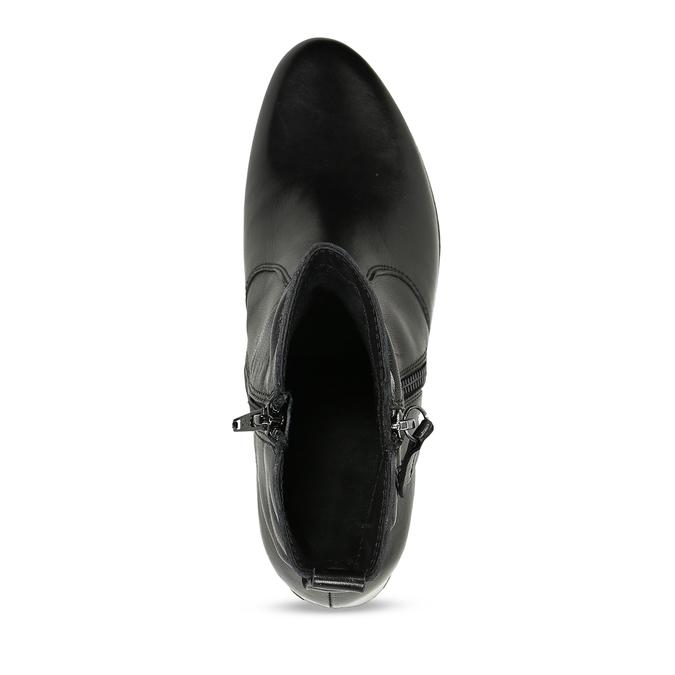 Kožená dámská kotníková obuv černá bata, černá, 594-6692 - 17
