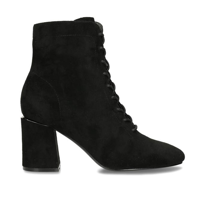 Černá dámská kotníková obuv se šněrováním bata, černá, 799-6613 - 19