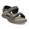 Šedé pánské kožené sandály ve sportovním střihu weinbrenner, šedá, 866-4604 - 13