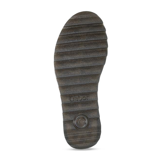 Tmavě modré kožené sandály na hrubé podešvi gabor, modrá, 563-9104 - 18