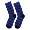 Vysoké modré bavlněné pánské ponožky s černými pruhy bata, modrá, 919-9672 - 26
