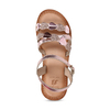 Růžové dětské kožené sandály se srdíčky mini-b, růžová, 466-8620 - 17