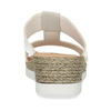 Kožené dámské pantofle na klínku bílé comfit, bílá, 566-1606 - 15