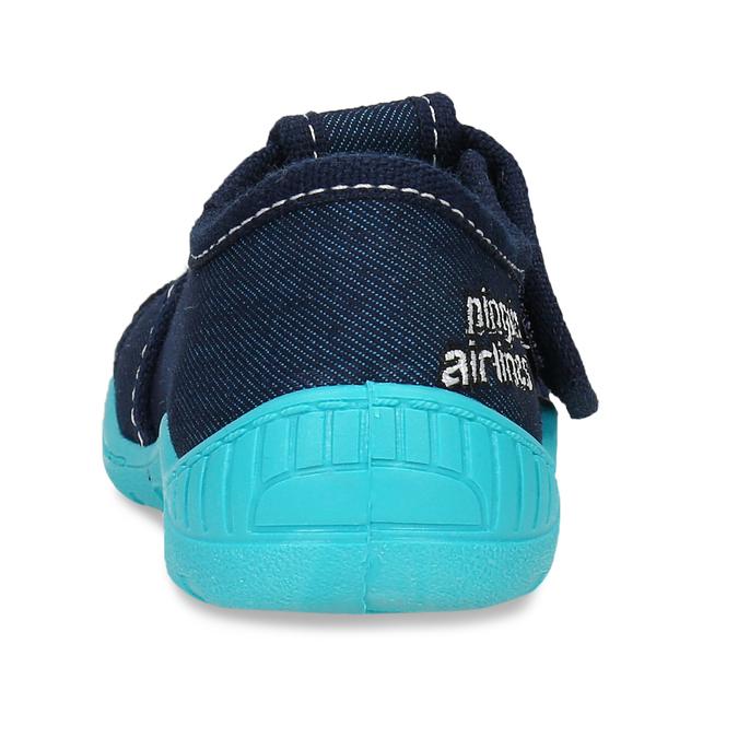 Chlapecké papuče s výšivkou mini-b, modrá, 179-9606 - 15