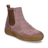 Růžová dámská kožená kotníková Chelsea obuv bata, růžová, 593-5615 - 13