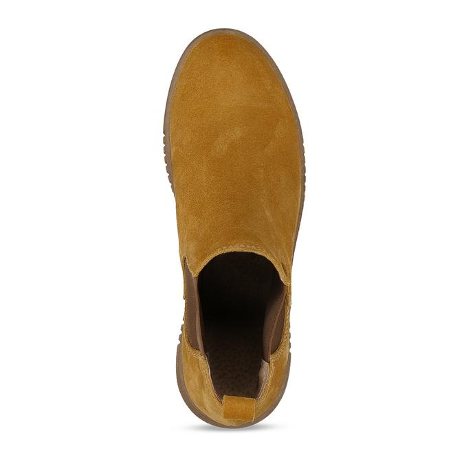 Žlutá kožená dámská kotníková Chelsea obuv bata, žlutá, 593-8615 - 17