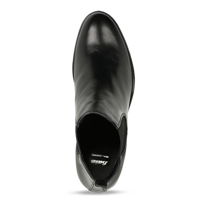 Černá dámská kožená kotníková obuv v Chelsea stylu bata, černá, 694-6628 - 17