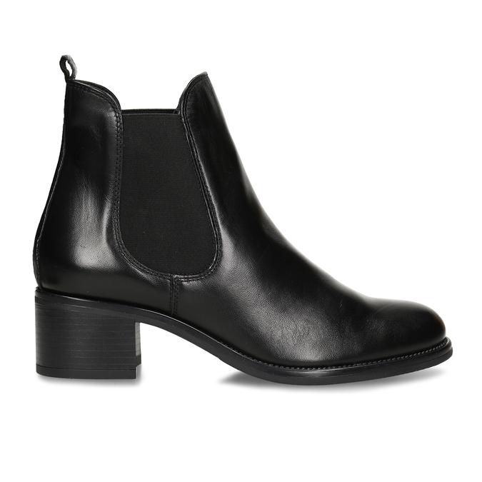 Černá dámská kožená kotníková obuv v Chelsea stylu bata, černá, 694-6628 - 19