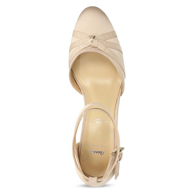 Dámské lodičky na nízkém podpatku béžové bata, béžová, 629-8608 - 17