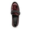 Extravagantní dámské mokasíny s lesklou hadí texturou bata, červená, 511-5604 - 17