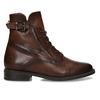 Dámská kožená kotníková obuv se šněrováním bata, hnědá, 594-4664 - 19