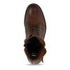 Dámská kožená kotníková obuv se šněrováním bata, hnědá, 594-4664 - 17
