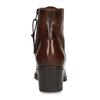 Šněrovací dámská obuv na podpatku v hnědé kůži bata, hnědá, 694-4620 - 15