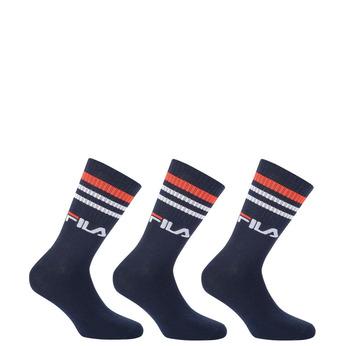 Modré sportovní ponožky s proužky okolo lýtka fila, modrá, 919-9635 - 13