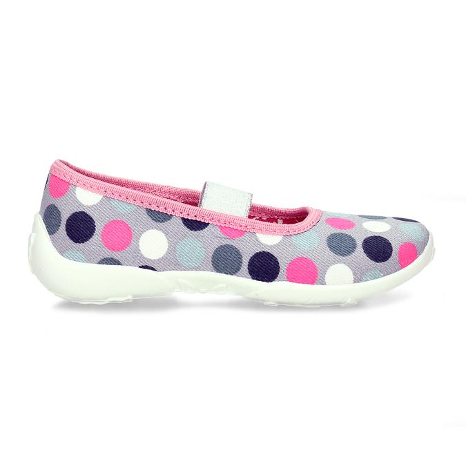 Dívčí přezůvky s puntíky mini-b, vícebarevné, 279-0606 - 19