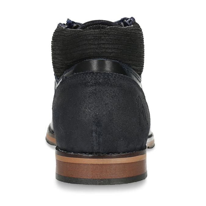 Kožená pánská kotníková obuv modrá bata, modrá, 826-9716 - 15