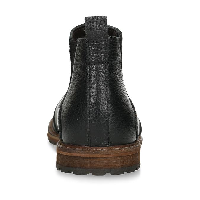 Pánská kožená Chelsea obuv černá bata, černá, 826-6714 - 15