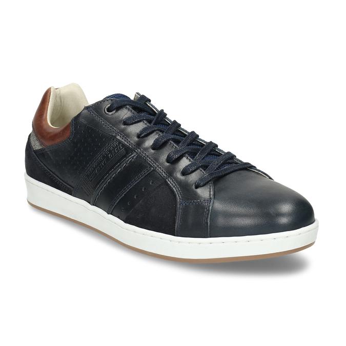 Pánské tenisky v černé kůži bata, modrá, 846-9724 - 13