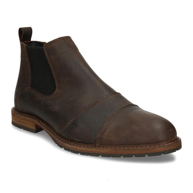 Hnědá pánská kožená Chelsea obuv bata, hnědá, 826-4713 - 13