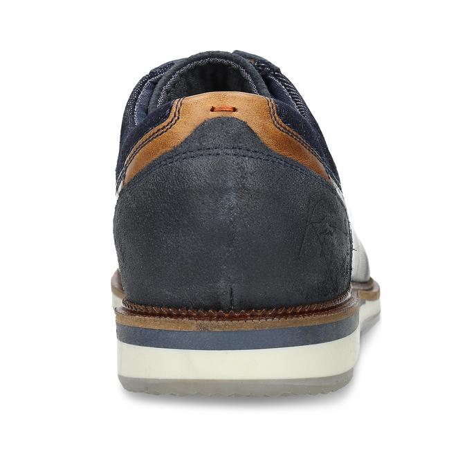 Tmavě modré pánské neformální polobotky kožené bata, modrá, 826-9719 - 15