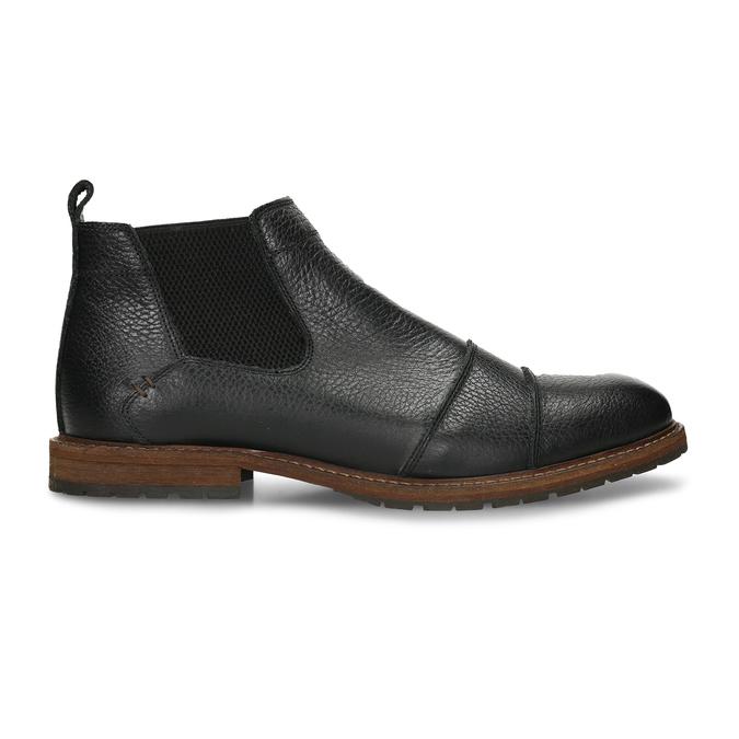 Pánská kožená Chelsea obuv černá bata, černá, 826-6714 - 19