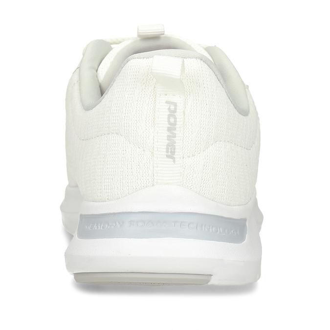 D8mské bílé tenisky s paměťovou pěnou power, bílá, 509-1800 - 15