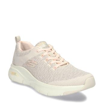 Sportovní dámské tenisky v lososové barvě skechers, bílá, 509-1172 - 13
