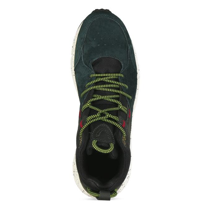 Tmavě zelené pánské kotníkové tenisky kožené north-star, zelená, 843-7601 - 17