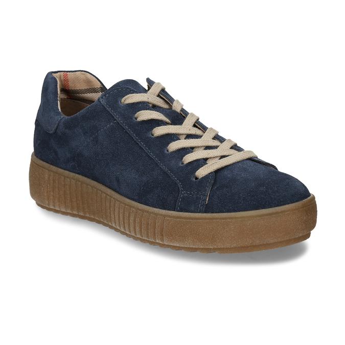 KOŽENÉ DÁMSKÉ TENISKY ŠEDÉ bata, modrá, 523-9614 - 13