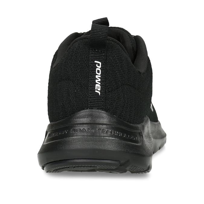 Černé dámské tenisky s kulatou špičkou power, černá, 509-6800 - 15