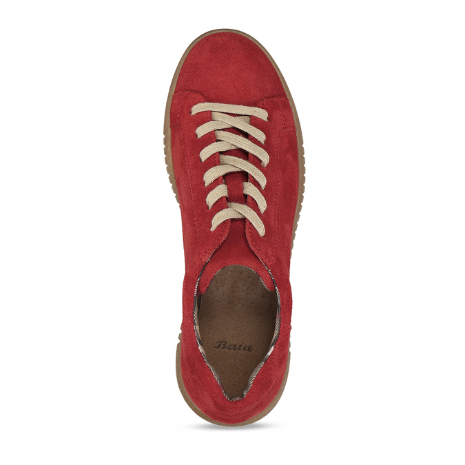 DÁMSKÉ KOŽENÉ TENISKY ČERVENÉ bata, červená, 523-5614 - 17