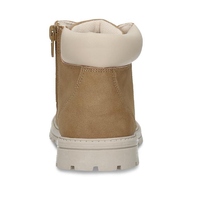 Světle hnědá chlapecká kotníková obuv mini-b, hnědá, 211-4612 - 15