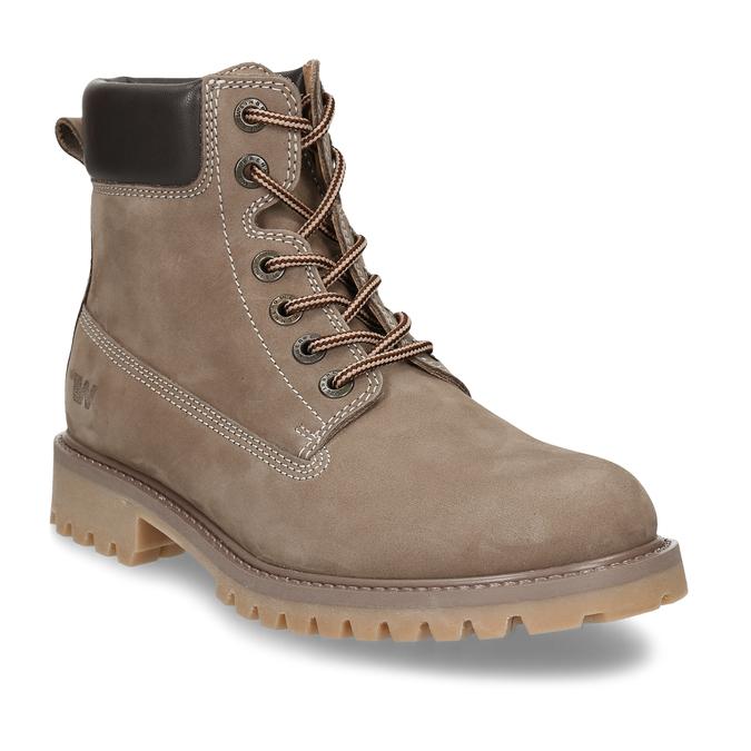 Dámská kožená kotníková obuv světle hnědá weinbrenner, hnědá, 596-4602 - 13