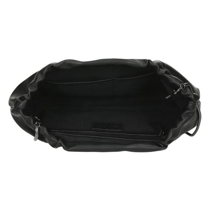 Černá dámská koženková kabelka bata, černá, 961-6272 - 15