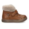 Dětská hnědá kožená zimní kotníková obuv s kožíškem froddo, hnědá, 194-4612 - 19