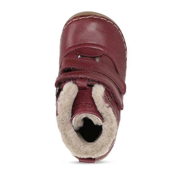Dívčí vínový kožená zimní obuv froddo, červená, 194-5610 - 17