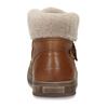 Dětská hnědá kožená zimní kotníková obuv s kožíškem froddo, hnědá, 194-4612 - 15
