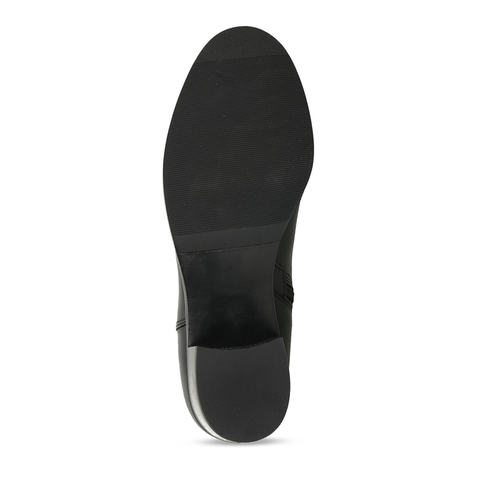 Černé dámské kožené kozačky bata, černá, 694-6644 - 18