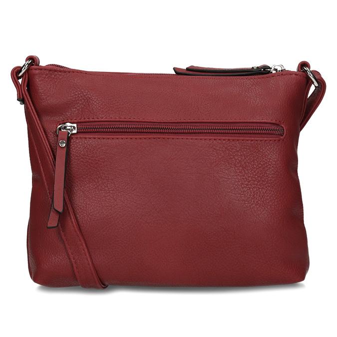Dámská terakotová kabelka se dvěma zipy gabor, červená, 961-5805 - 16