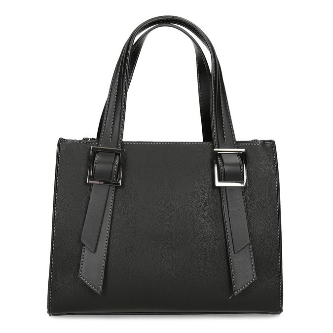 Černá kabelka s výraznými přezkami gabor, černá, 961-6813 - 26