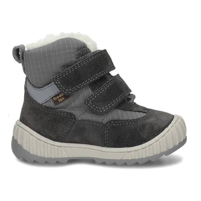 Šedá chlapecká zimní obuv s kožíškem froddo, šedá, 199-2615 - 19
