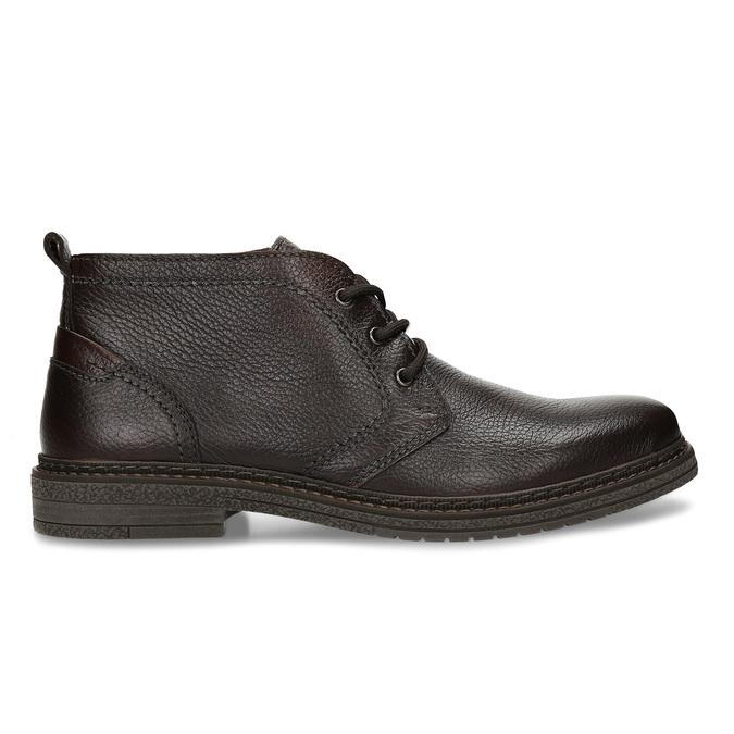 Kožená hnědá pánská kotníková obuv comfit, hnědá, 826-4733 - 19