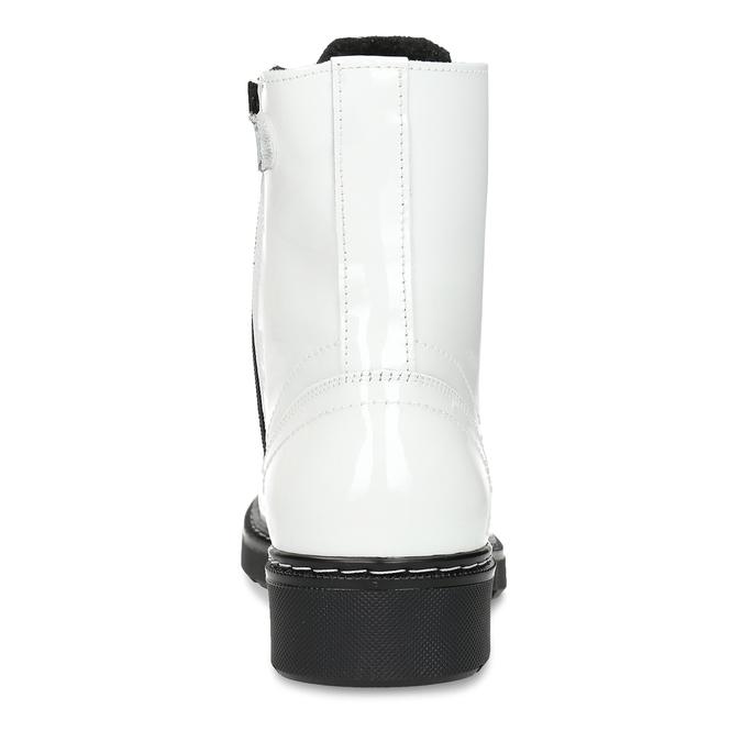 Bílá lakovaná kožená dívčí kotníková obuv bullboxer, bílá, 424-1605 - 15